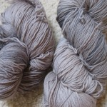 Silver-gray sock yarn