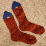 A pair of amber socks