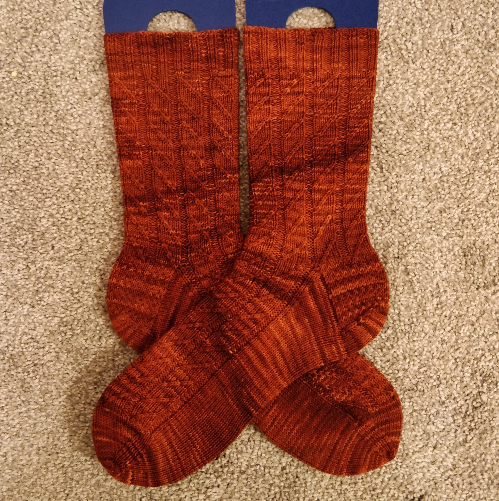 A pair of amber socks